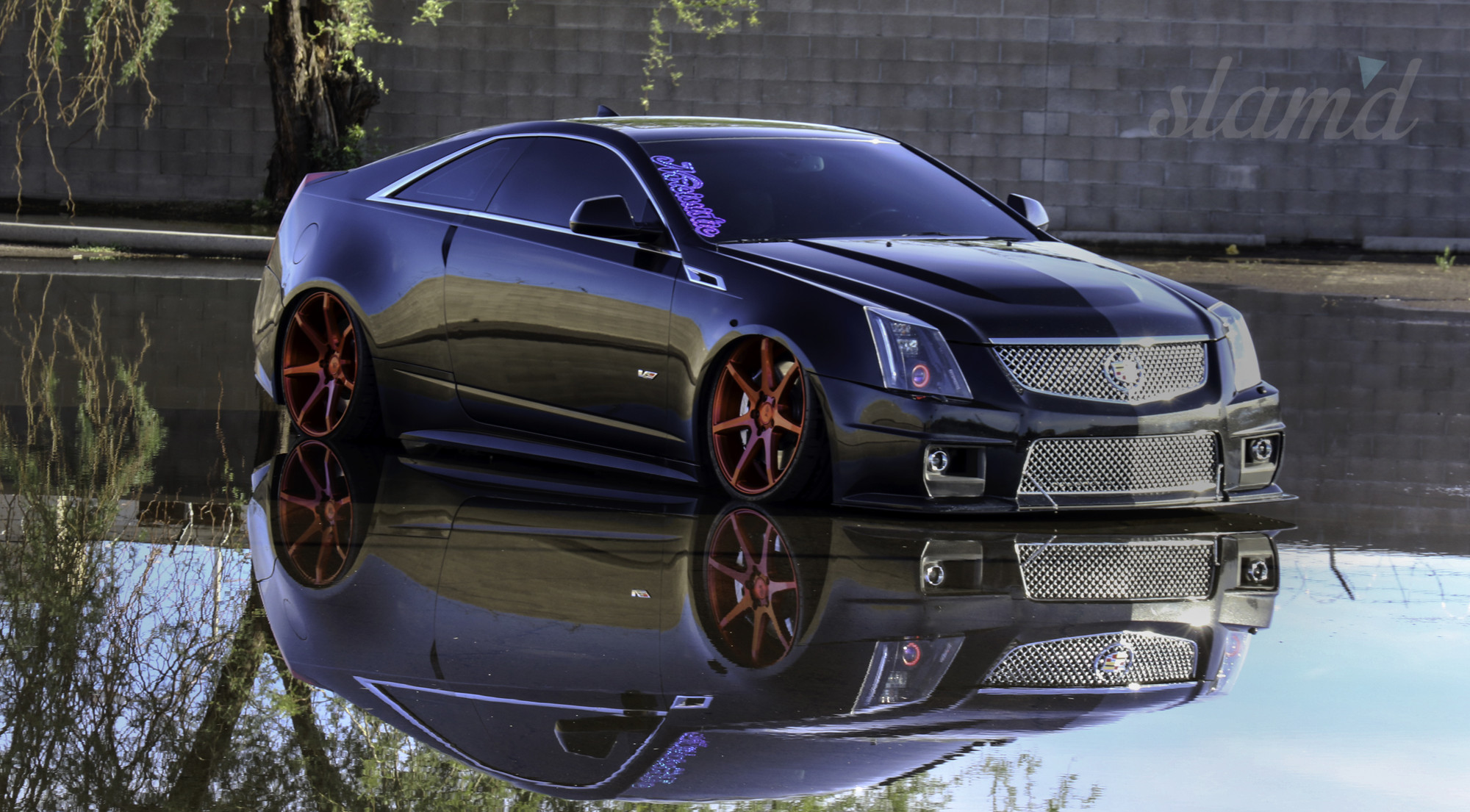 tuning cts custom cadillac coupe lowrider v wallpaper wallpaperup