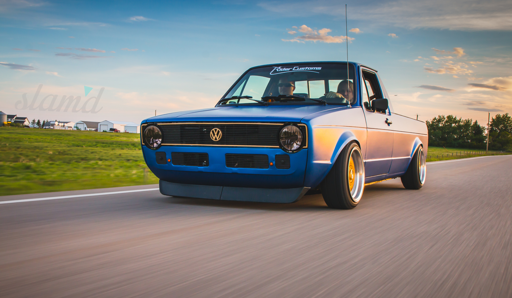 Built To Drive The Dub Dynasty 1981 Vw Caddy Slam D Mag