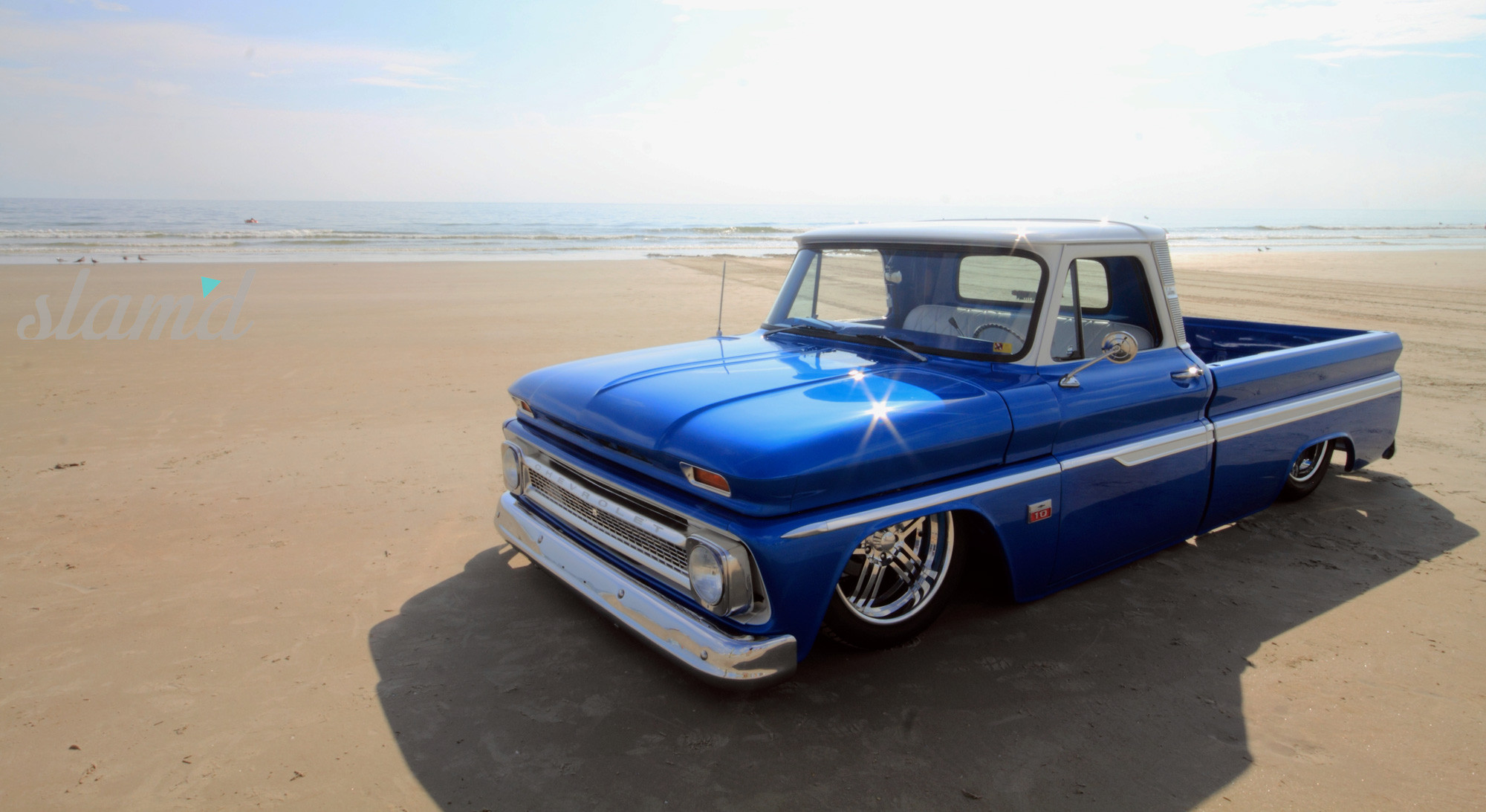 Oceans Blue Steven Bogues Gorgeous 1966 C 10 Build Slamd Mag Chevy C10 Truck Slammed Bogue01